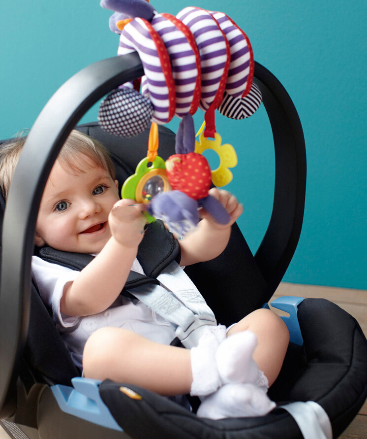 Infant Toddler Baby Activity Spiral Stroller And Car Seat Hanging Toy